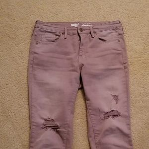 Mossimo rose stretchy jeans